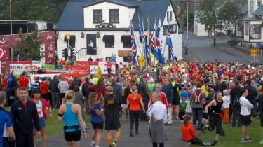 Running marathon in Reykjavik
