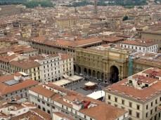 Piazza della Repubblica from Giotto's Campanile
