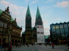 Bremen cathedral in Marktplatz market square