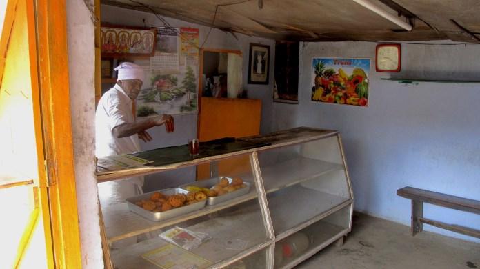 Morning with freshly made tea in Munnar local mini café.