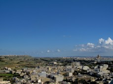 Panoramic views of Gozo from top of the Citadella