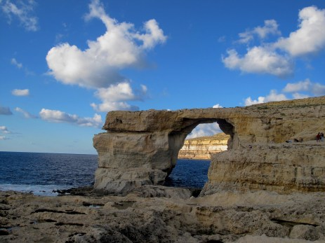 Azure window. It is interesting, that due to natural corrosion this nature site one day could collapse...