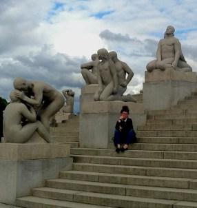 Me in Vigeland Sculpture Park