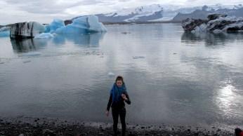 Me at the Jökulsárlón Glacier lake