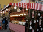 Christmas market in Santa Croce Square, Florence