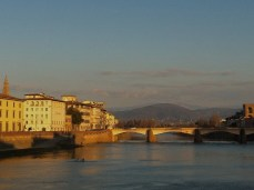 Arno river and Florence.