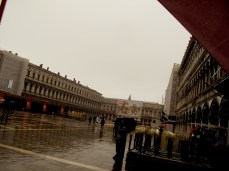 Piazza San Marco on a rainy day in early spring