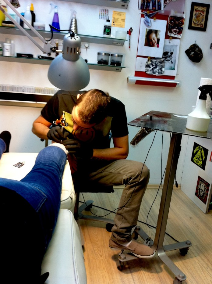 Getting tattooed in Bucharest