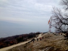 Views from Vodno mountain where is the Millennium Cross