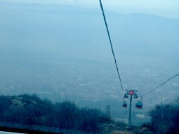 Cable car up to Vodno mountain