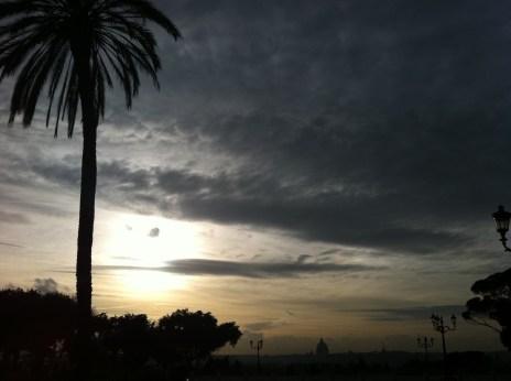 Sky over Rome, Italy