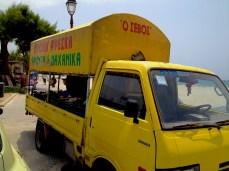 Mobile kiosk in Mastichari