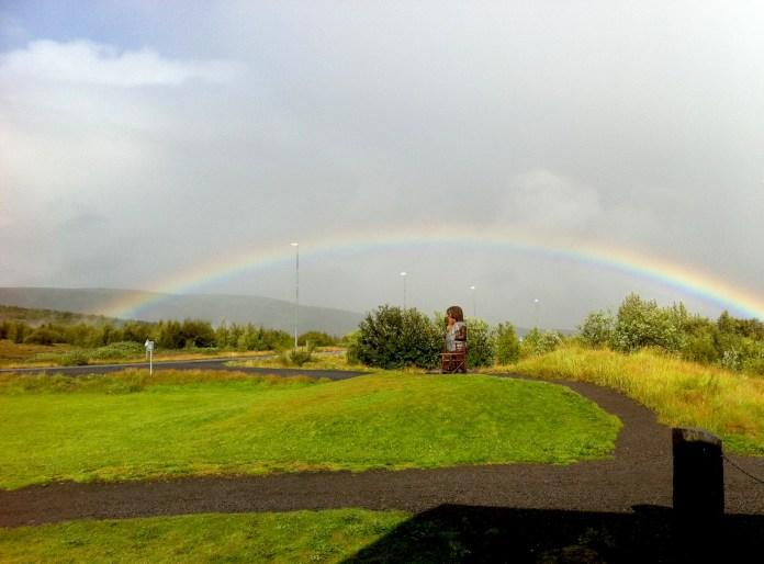 Rainbow in Iceland (photo - Gintarė Adamonytė)