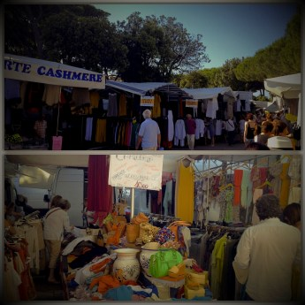 Tuesday market in Forte dei Marmi, which in summer is opened on sundays too