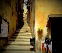 Tiny stepped streets in Cortona