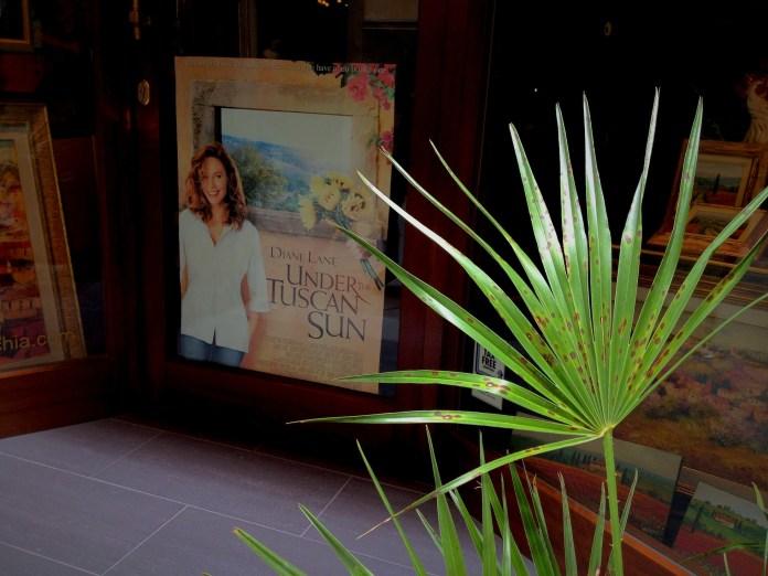 "Cinema tourism: ""Under the Tuscan Sun"" poster in Cortona"