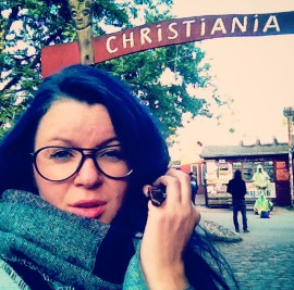 Me, entering Christiania, Copenhagen