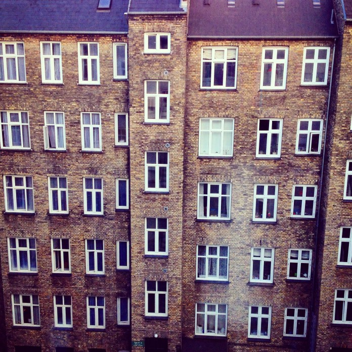 A view from our hotel room in Copenhagen