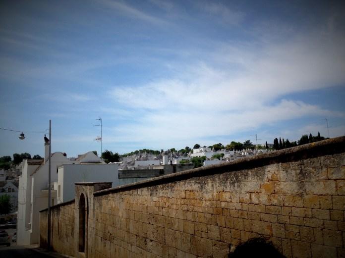 Approaching trulli district in Alberobello