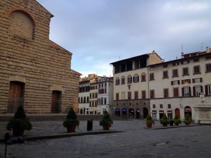 8:01. Basilica di San Lorenzo, one of the biggest Florentine churches, located in the area of San Lorenzo market, famous for the leather goods.