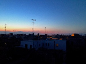 Nightviews of Lecce from our rooftop terrace