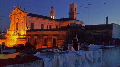 Dinner on the rooftop terrace in Lecce