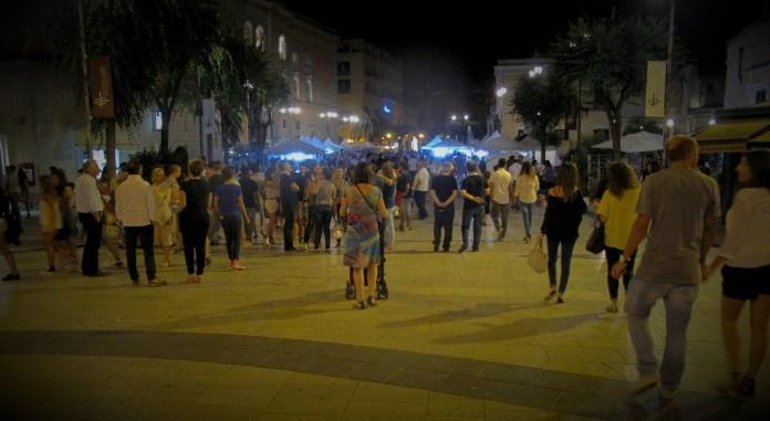 Bustling center of Matera