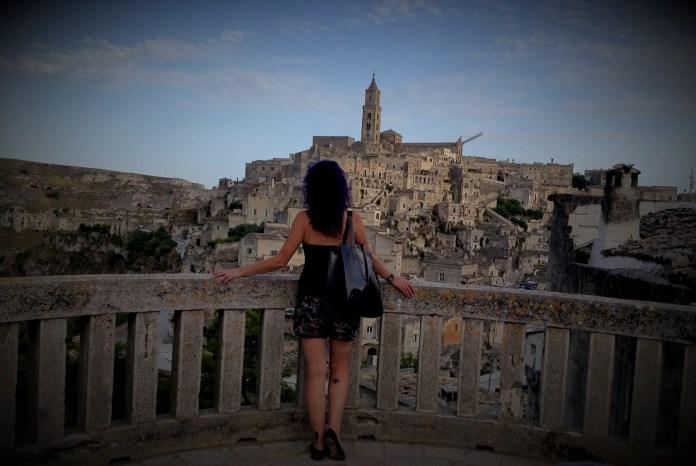 Me and panoramic view of Sassi di Matera