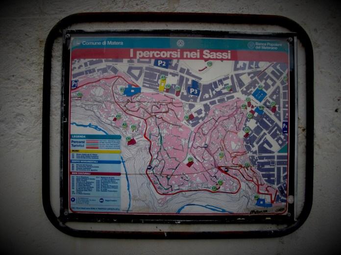 Map of Sassi di Matera