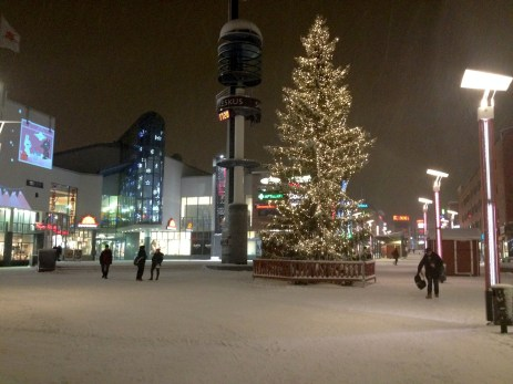 Rovaniemi city center and its main square