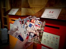 Sending some postcards from the Santa Claus Post Office at the Arctic Circle in Rovaniemi, Lapland.