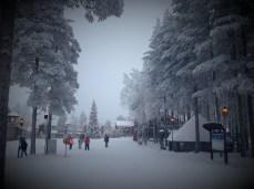 Santa Claus Village at the Arctic Circle in Rovaniemi, Lapland.