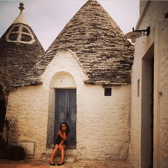 Me, visiting Alberobello this summer