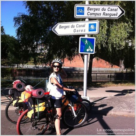 Saliendo en bici de Toulouse