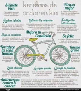 beneficios de ir en bici