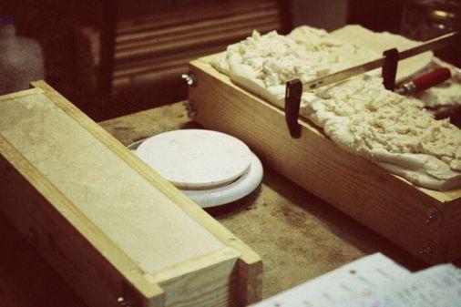 Jabón natural Ca l a font en proceso de secado