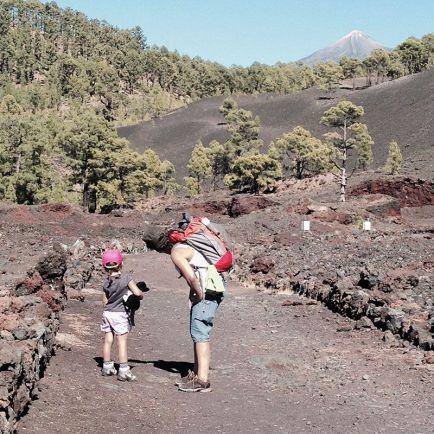 Chinyero, Tenerife, con vista al Teide.