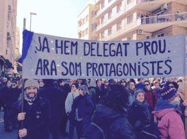Pancartas- Marcha Amposta por el Delta del Ebro
