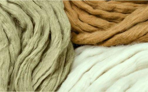 Tejido con algodón ecológico de tres tonos naturales