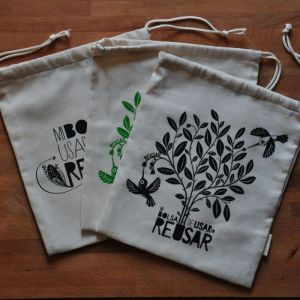 Pack de bolsas de compras a granel de algodón orgánico