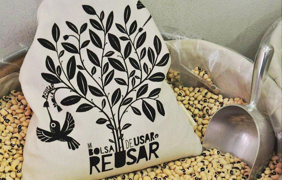Bolsa ecológica para comprar a granel. Hecha en Barcelona para una vida residuo cero