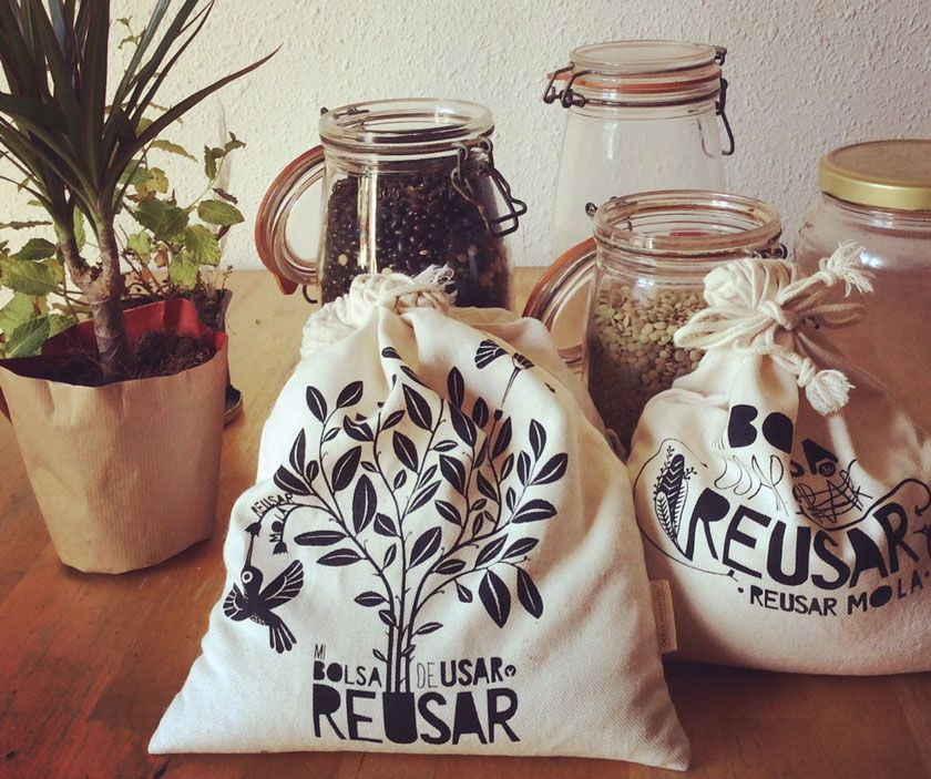 Nuestras bolsas de tela para comprar a granel en modo zero waste, las reinas de Usar y Reusar