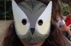 fiesta de cumpleaños sostenible: máscaras de papel