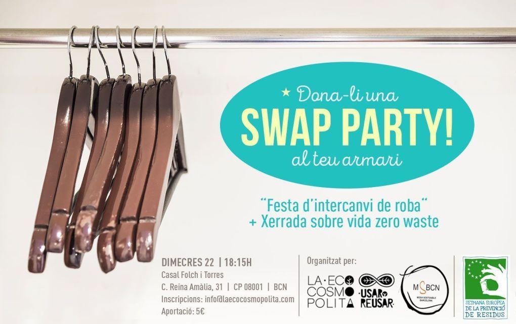 swapt party o fiesta de intercambio de ropa en Barcelona