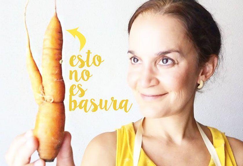 Zanahoria imperfecta. residuo cero Desperdicio alimentario
