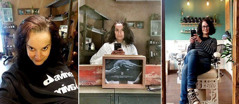 Alone. Mi transición al pelo gris. peluqueria ecologica