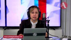 """""""La batalla por la libertad la debemos dar juntos"""": Aristegui sobre litigio con MVS"""