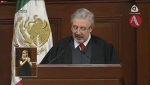 Último informe de Luis María Aguilar como ministro presidente de la SCJN