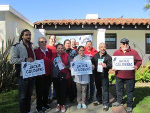 Videos: El respaldo del Sindicato de Maestros de Los Angeles a Jackie Goldberg para la titularidad del Distrito 5 del distrito escolar persuade a latinos para darle su voto el 5 de marzo