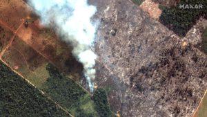 """Videos: Casi 20 días después de iniciados los incendios en la Amazonia, Bolsonaro sopesa enviar al Ejército para ayudar a extinguirlos; """"Que se vaya"""", claman en Europa"""
